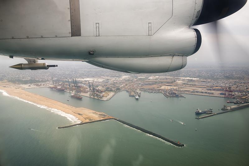 Survol port de Lomé DACCIWA