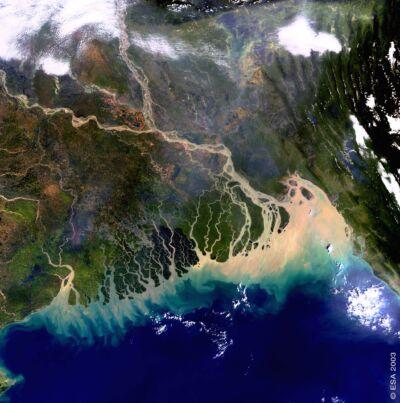 meilleure estimation montée des eaux du Gange